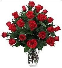 Ulus Ankara anneler günü çiçek yolla  24 adet kırmızı gülden vazo tanzimi