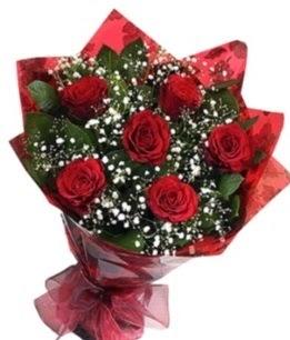 6 adet kırmızı gülden buket  Ulus Ankara ucuz çiçek gönder