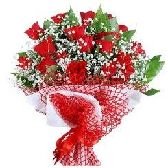 11 kırmızı gülden buket  Ulus Ankara çiçek yolla , çiçek gönder , çiçekçi
