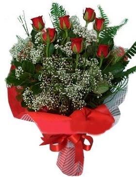 7 kırmızı gül buketi  Ulus Ankara çiçek gönderme