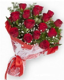 11 kırmızı gülden buket  Ulus Ankara çiçek , çiçekçi , çiçekçilik