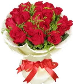 19 adet kırmızı gülden buket tanzimi  Ulus Ankara çiçek gönderme