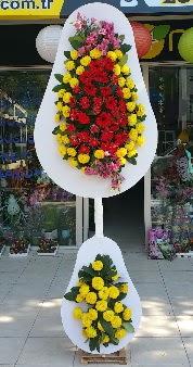 Düğün nikah açılış Çiçeği Çift katlı sepet  Ulus Ankara hediye sevgilime hediye çiçek