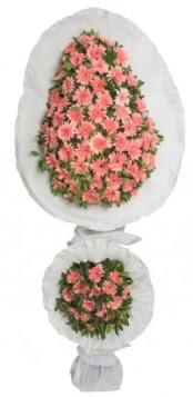 Çift katlı düğün açılış nikah çiçeği modeli
