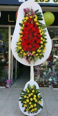 Çift katlı düğün çiçekleri  Ulus Ankara anneler günü çiçek yolla