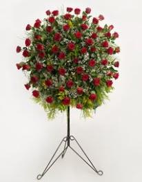71 adet kırmızı gülden ferförje çiçeği  Ulus Ankara 14 şubat sevgililer günü çiçek