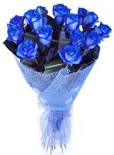 12 adet mavi gül buketi  Ulus Ankara çiçek gönderme