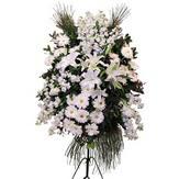 Ulus Ankara güvenli kaliteli hızlı çiçek  Ferforje beyaz renkli kazablanka