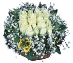 Ulus Ankara çiçek online çiçek siparişi  Beyaz harika bir gül sepeti