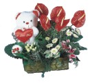 Ulus Ankara ucuz çiçek gönder  Lilyum ve oyuncakli arajman