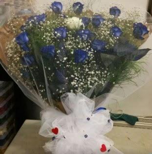 Mavi güllerden kız isteme buket çiçeği  Ulus Ankara çiçek servisi , çiçekçi adresleri