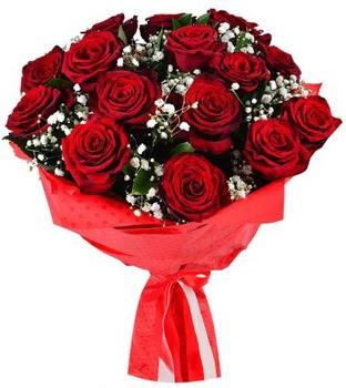 Kız isteme çiçeği buketi 17 adet kırmızı gül
