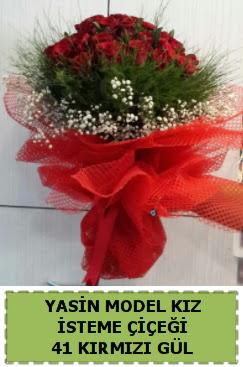 41 Adet kırmızı gül kız isteme çiçeği