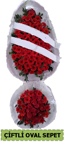 Çift katlı oval düğün nikah açılış çiçeği