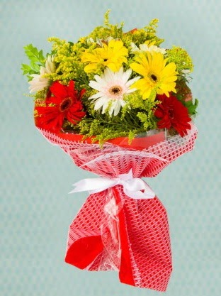 Karışık Gelbera Buketi  Ulus Ankara anneler günü çiçek yolla
