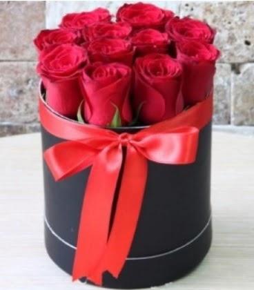Kutu içerisinde 9 adet kırmızı gül  Ulus Ankara çiçek online çiçek siparişi