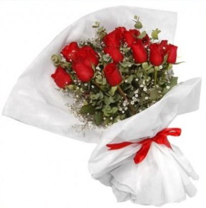 9 adet kırmızı gül buketi  Ulus Ankara 14 şubat sevgililer günü çiçek