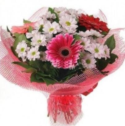 Gerbera ve kır çiçekleri buketi  Ulus Ankara çiçek servisi , çiçekçi adresleri