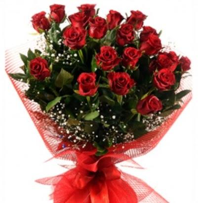 Kız isteme buketi çiçeği sade 27 adet gül