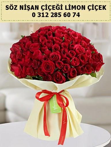51 adet kırmızı gül söz nişan buketi çiçeği  Ulus Ankara anneler günü çiçek yolla