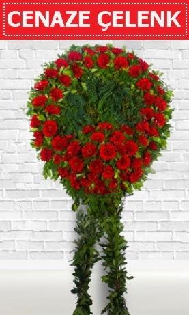 Kırmızı Çelenk Cenaze çiçeği