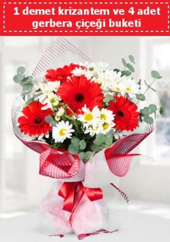 Krizantem ve Gerbera Buketi  Ulus Ankara anneler günü çiçek yolla