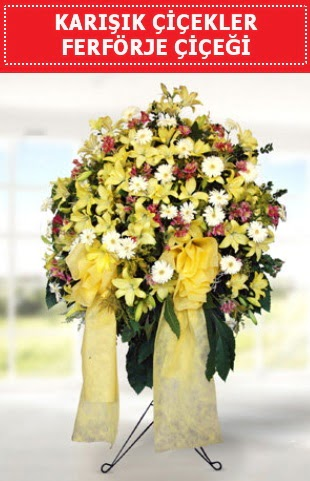 Karışık mevsim çiçeklerinden ferförje  Ulus Ankara hediye sevgilime hediye çiçek