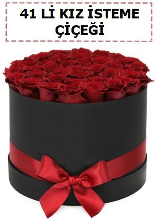 41 li kız isteme kutuda çiçek