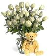 Ulus Ankara online çiçekçi , çiçek siparişi  Beyaz güller ve oyuncak