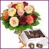 Ulus Ankara çiçek servisi , çiçekçi adresleri  Renkli Güller ve çikolata